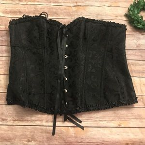 Other - NEW black tie back corset